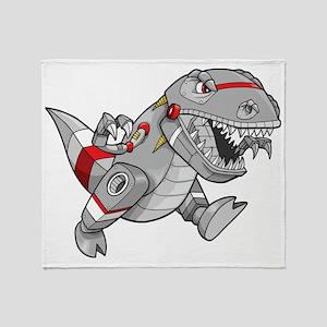 Dinosaur Robot Throw Blanket