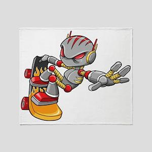 Robot Skater Throw Blanket