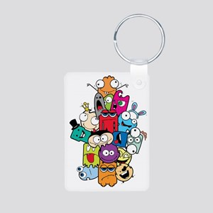 Cute Little Monsters Aluminum Photo Keychain