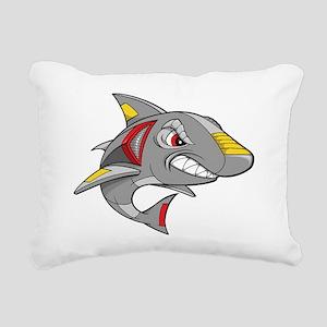 Robot Shark Rectangular Canvas Pillow