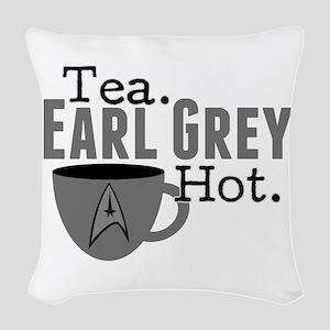 Tea Earl Grey Hot Woven Throw Pillow
