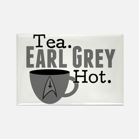 Tea Earl Grey Hot Rectangle Magnet
