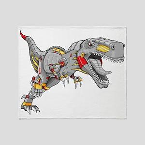 Robot Dinosaur Throw Blanket