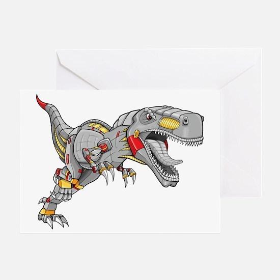 Robot Dinosaur Greeting Card