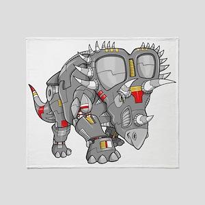 Rhino Robot Throw Blanket
