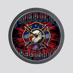 American Firefighter Lightning Mousepad Wall Clock