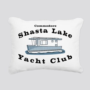 Shasta Lake Yacht Club Rectangular Canvas Pillow