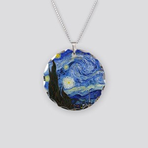 Van Gogh Necklace Circle Charm