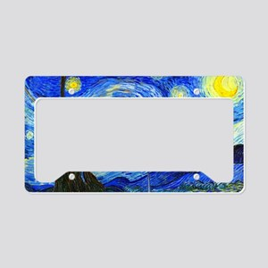 Laptop Van Gogh License Plate Holder