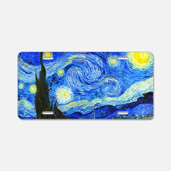 Laptop Van Gogh Aluminum License Plate