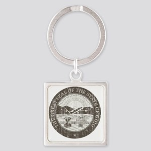 Vintage Ohio Seal Square Keychain