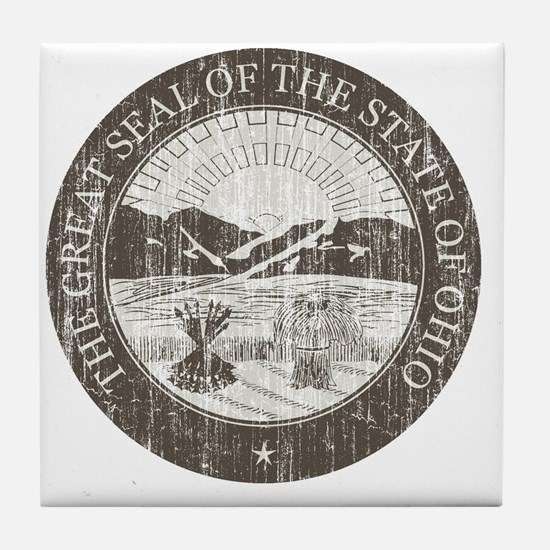 Vintage Ohio Seal Tile Coaster