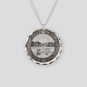 Vintage Ohio Seal Necklace Circle Charm