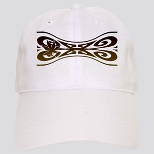 Ladies Abstract With Leaf Cap
