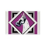Harlequin Great Dane design Rectangle Magnet (100