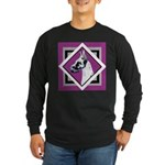 Harlequin Great Dane design Long Sleeve Dark T-Shi