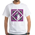 Harlequin Great Dane design White T-Shirt