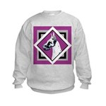 Harlequin Great Dane design Kids Sweatshirt