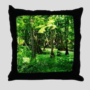Moddy Swamps Throw Pillow