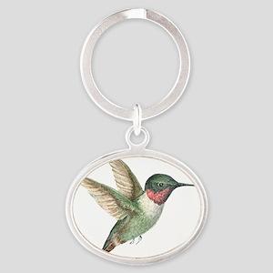 Little Hummingbird Oval Keychain