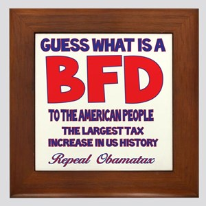 Obamatax BFD Framed Tile