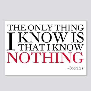 Socrates Knowledge Quote Postcards (Package of 8)