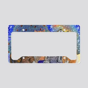 Meowy Christmas License Plate Holder