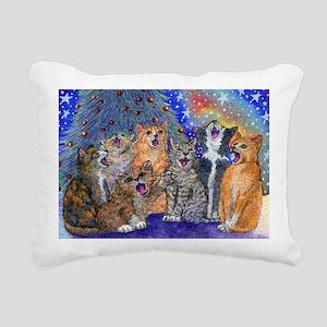 Meowy Christmas Rectangular Canvas Pillow
