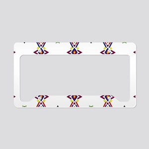 Geometric arrows ethnic tradi License Plate Holder
