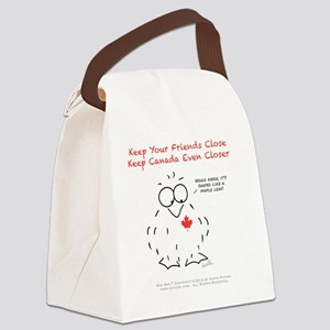 Keep Canada Even Closer Canvas Lunch Bag