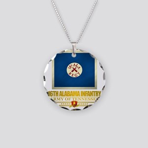 16th Alabama Infantry Necklace Circle Charm