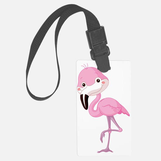 Cute Baby Flamingo Luggage Tag