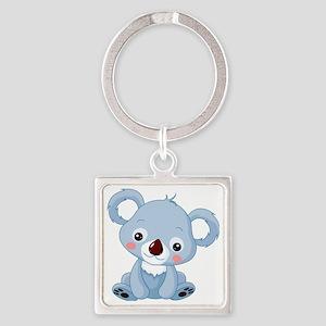 Baby Koala Square Keychain