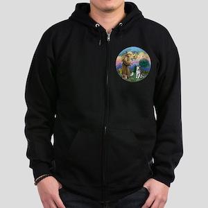 St. Francis-AlaskanMalamute Zip Hoodie (dark)