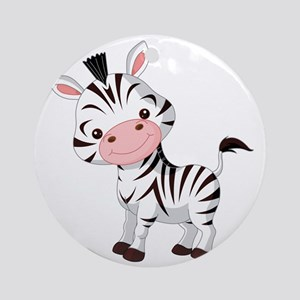 Cute Baby Zebra Round Ornament
