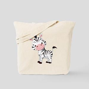 Cute Baby Zebra Tote Bag