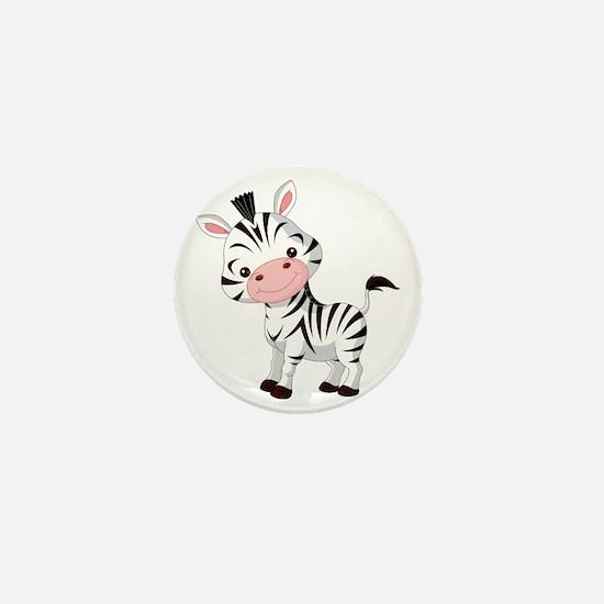 Cute Baby Zebra Mini Button