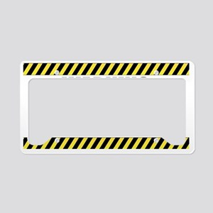 WARNING Sticker License Plate Holder