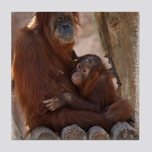 (16) Orang Mother and Child 7374 Tile Coaster