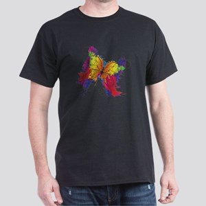 Colorful Butterfly Dark T-Shirt