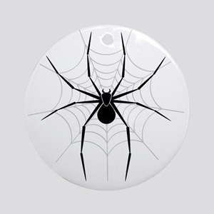 Spider Web Round Ornament