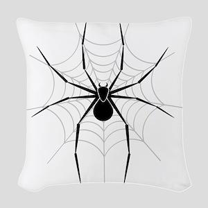 Spider Web Woven Throw Pillow