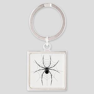 Spider Web Square Keychain