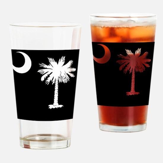 South Carolina Palmetto State Flag Drinking Glass