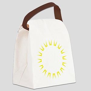 Soccer Football Rays Canvas Lunch Bag