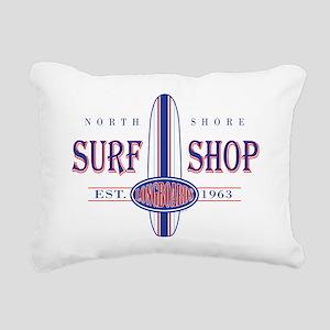 North Shore Surf Shop Rectangular Canvas Pillow