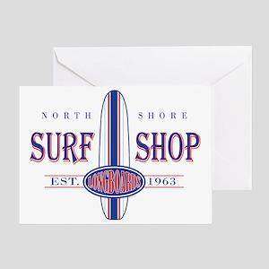 North Shore Surf Shop Greeting Card