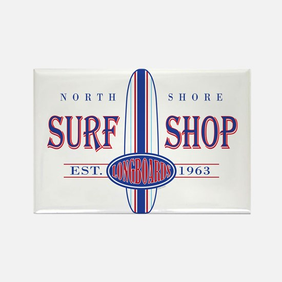 North Shore Surf Shop Rectangle Magnet