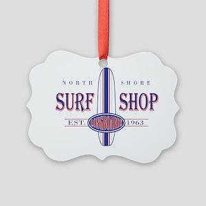 North Shore Surf Shop Picture Ornament