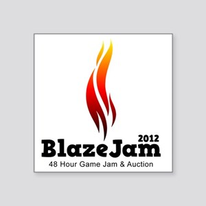 "BlazeJam Logo - Light Square Sticker 3"" x 3"""